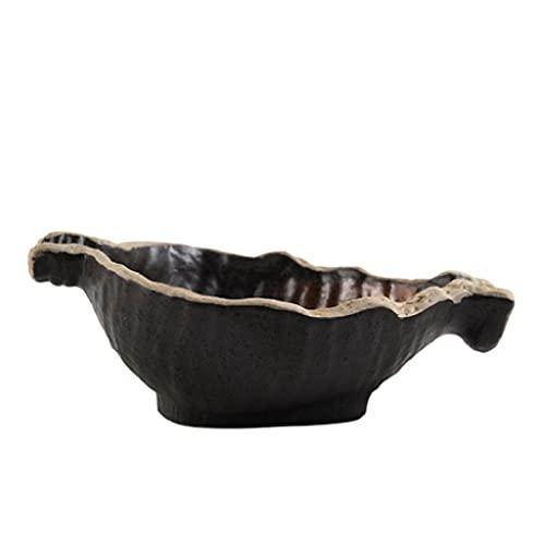ZAIZAI Cuenco de cerámica para el hogar con Forma Especial, Cuenco para Ensalada de Frutas, vajilla para el hogar, Plato, vajilla de cerámica (Size : 16.5cm*6.2cm)