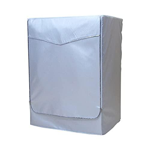 Couvercle étanche pour Lave-Linge à Protection Solaire pour laveuse à Rouleaux Automatique Sèche-Linge en Polyester argenté Couvercle de Machine à Laver Anti-poussière - Gris XL