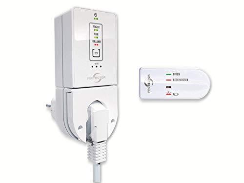 ATEK 9004389 AS-7020 Funk Abluftsteuerung mit kabelloser Minieinheit in weiß+braun
