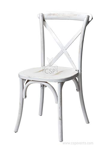Commerical Seating Products White Wash Crossback Dining Chairs