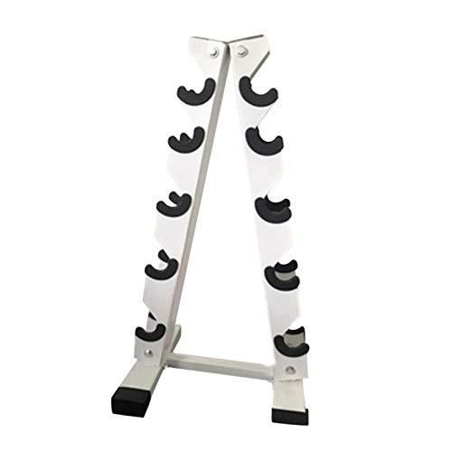 Jiaermei A-Frame - Soporte para mancuernas de acero sólido con 5 niveles para mancuernas y suministros de gimnasio en casa