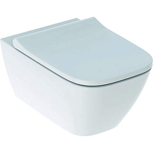Smyle Square Geberit Hänge-WC RimFree + WC-Sitz SoftClose 500.683.01.1