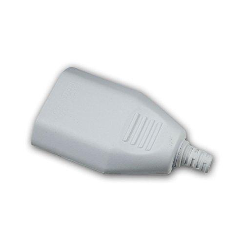 Europa-Kupplung Kunststoff weiß, max. 250V/2,5A (5 Stück Kupplung)