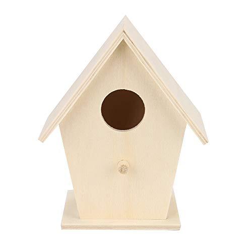 Hukz Hölzerne Vogel Nistkasten Bausatz, Einflugloch zum Aufhängen, Stabiler Vogelhaus Vogelhäuschen Nisthaus Bird House Für Meise Wellensittiche Rotkehlchen Nymphensittich Rotschwänzchen by