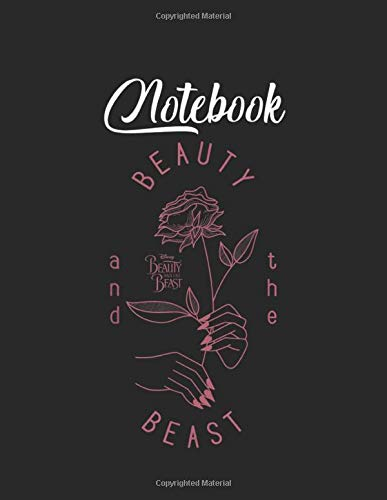 NoteBook: Disney Beauty The Beast Vintage Craft Rose Graphic Blank Vinetage Floral Notebook Marble Large Size 8.5in x 11in for Student Teacher Friend with 110 Page