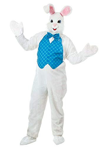 Adult Easter Bunny Costume Animal Mascot Costume for Adults Standard White