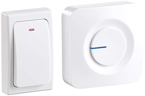 CASAcontrol Haustürklingel: Batterielose Funk-Türklingel mit Steckdosen-Empfänger, 36 Töne, IP44 (Batterielose Klingel)