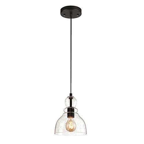 SISVIV Lámpara Colgante de Vidrio Industrial Vintage Luz Retro para Cocina...