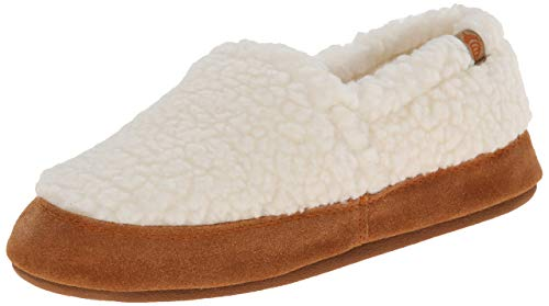 Acorn Women's Moc Slipper, Buff Popcorn, 8-9
