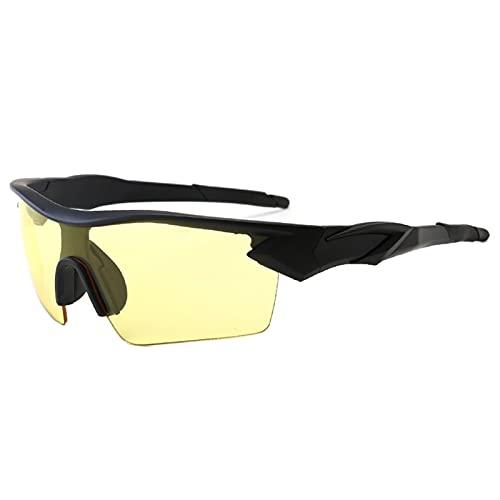 JTXQSI Bicicleta Gafas Gafas Al Aire Libre Sport Mountain Bike Road Ciclismo Gafas Gafas de Sol Gafas de Sol Gafas (Color : Grey Yellow)