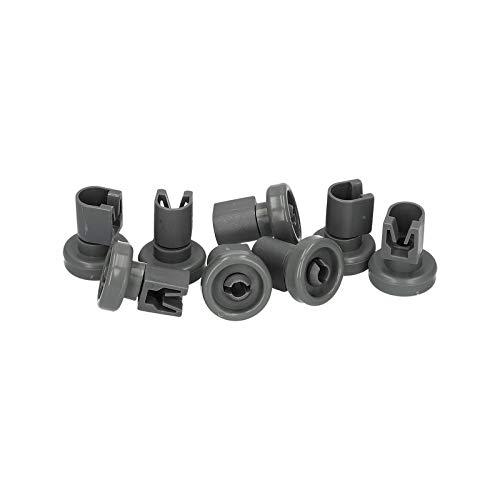 LUTH Premium Profi Parts - Juego de 8 x ruedas de cesto superior para lavavajillas | Compatible con AEG Electrolux 5028696700 502869670/0 435856 01012003 5028696700