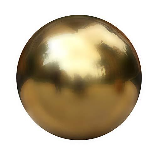 Fastar Hohlkugel aus 304er-Edelstahl, nahtlose Spiegelkugel für Haus, Garten, Ornament, Dekoration usw. 10cm-gold