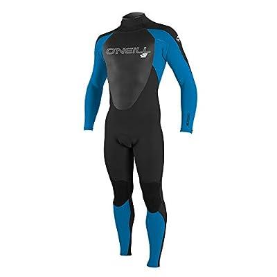 O'Neill Men's Epic 3/2mm Back Zip Full Wetsuit, Black/Bright Blue/Black, M