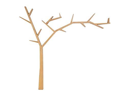 Półka drzewo POPRAD prawa brąz miodowy drewniana półka na książki i dekoracje SIGNAL
