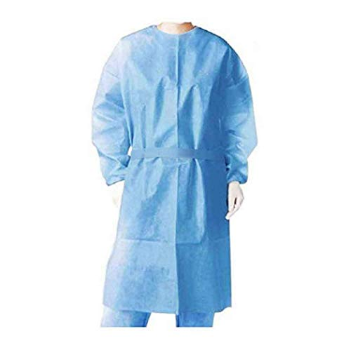 Disposable Isolation Suit, Coveralls Protective Suit, Full Body Isolation Gowns Clothing Anti-Spitting And Anti-Oil Stain Nursin Against Infection Suits Elastic cuffs with waist (20 pcs)