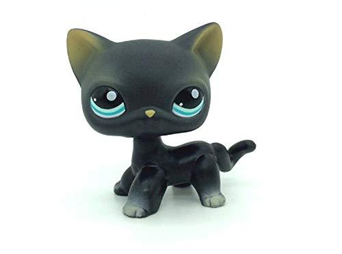 WooMax LPS Jouet Littest Pet Shop Chat Noir Chat Noir Chat Noir Collection Chatte Jouets pour Enfants d'anniversaire Chirstmas Cadeau