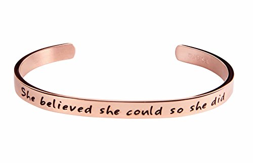 She Believe she Could So She Did Inspirational Bracelet