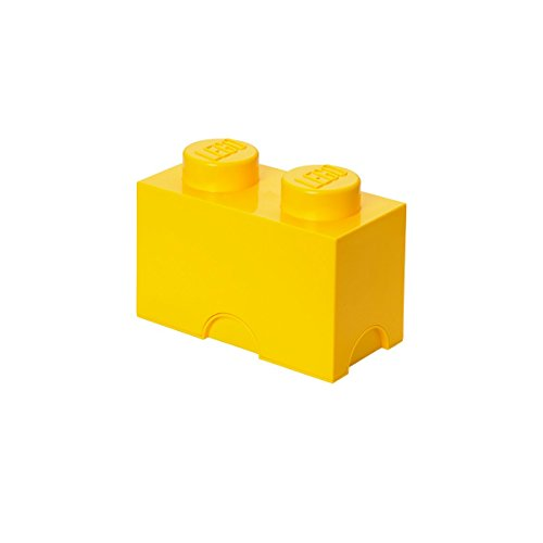 LEGO Storage Brick With 2 Knobs, in Bright Yellow