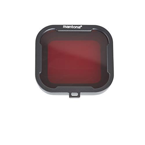 Mantona 21280 Filterset (für GoPro Hero 4/3+ Filter grau, rot, gelb, magenta hochwertige Unterwasserfilter) 4-farbig