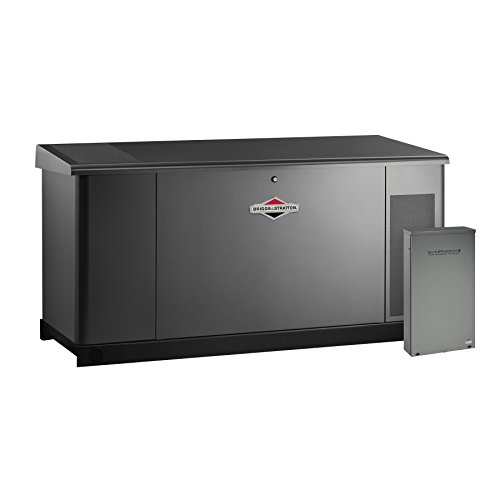 Briggs & Stratton 76107 25kW Home Standby Generator System with Dual 200 Amp/Split 400 Amp Automatic Transfer Switch, Gray