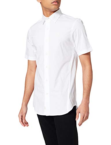 G-STAR RAW Mens Dressed Short Sleeve Super Slim Shirt, White C271-110, L