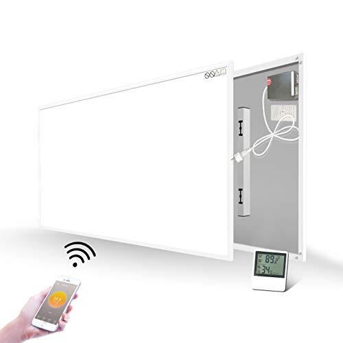 900W Infrarotheizung mit WiFi Eingebautem Thermostat Temperatursensor Wandheizung Heizplatte Heizpaneel Infrarot Wandmontage Energiesparend Überhitzungsschutz Carbon Crystal mit CE GS RoHS
