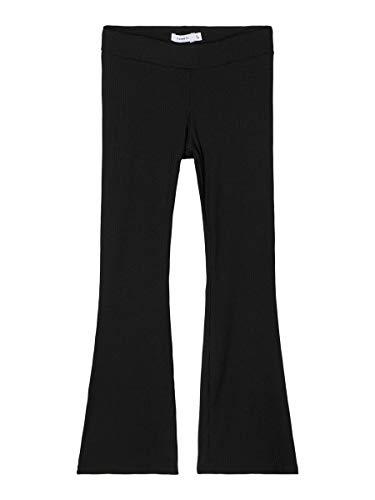 NAME IT Mädchen NKFFREJALO Bootcut Pant NOOS, Black, 128