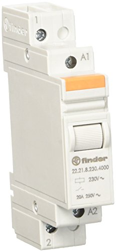 Finder 222182304000PAS Installationsschütze, 230VAC, 1Öffner, 20A, Kontaktmaterial: AgSnO2