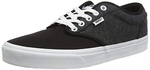 Vans Herren Atwood Canvas Sneaker, Jersey Schwarz Weiß, 42 EU