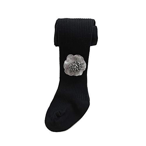 SanQing LOVE Les Filles d'hiver Doux Pantalons Collant Tight Knit Leggings bébé Couleur Solide Chaud Chaussettes Longues Pantalons bébé Convient pour 0-8 Ans Filles âgées,Noir,M