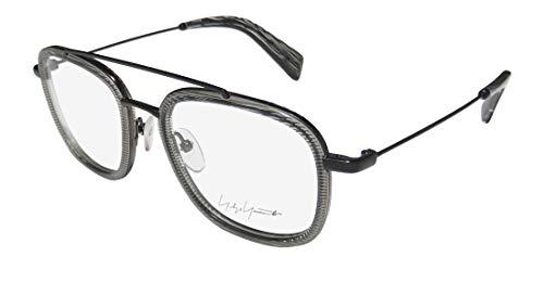 Yohji Yamamoto 1026-048 Unisex Black Line Acetate Frame Eyeglasses