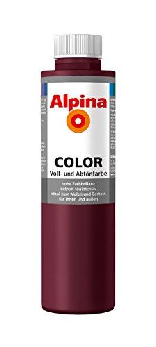 Alpina Farben Voll und Abtönfarbe Wandfarbe Alpina Color Farbton Berry Red 750 ml