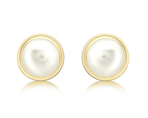 Carissima Gold 9ct Yellow Gold 8mm Pearl Stud Earrings