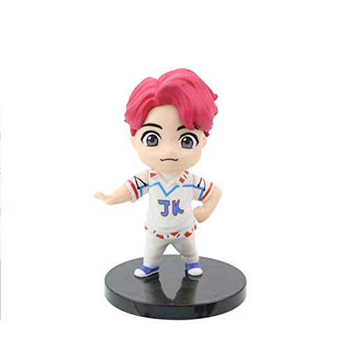 YUY BTS Mini Doll Figure Set With J HOPE JIMIN SUGA V RM JUNGKOOK JIN Merch Collectable Figures,JUNGKOOK