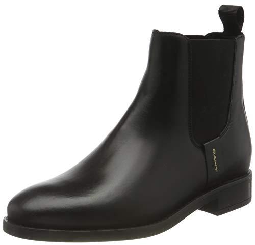 GANT FOOTWEAR Damen FAYY Chelsea-Stiefel, Black, 39 EU
