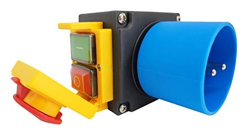 Schalter-Stecker Kombination DZ08-1 230V mit NOTAUS Klappe - Baugleich: KOA7