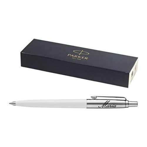 Nuovo modello esclusivo penna a sfera Parker JOTTER con incisione incisione laser inciso colore bianco