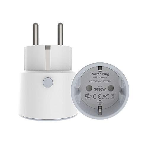 Enchufe Inteligente 16A 3680W con Monitor de Control de Energía. Para Alexa, Google Assistant Smart Home