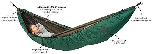 AMAZONAS Hängematten Wärmeschutz Underquilt XXL für Ultraleicht-Hängematten ca. 305 x 130 cm in Grün