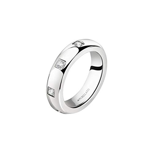 Morellato Anillo para mujer, Colección Love Rings, en Acero inoxidable, cristal...