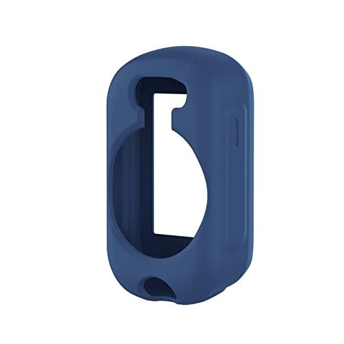 CGGA Carcasa protectora de silicona para Garmin Edge 130/130 Plus Funda de protección GPS antiarañazos, a prueba de golpes, color azul