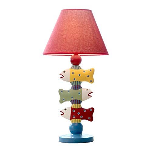 Schreibtischlampen Nachttischlampen Tischlampen Mittelmeer Resin Tischlampe Drei Fische Dekorative Schlafzimmer Nachttischlampe Europäische Schreibtischlampe Kreative Warm Hochzeit Geschenk-Beleuchtun