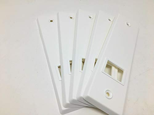 5x 160 Lochabstand Rolladen Gurtwickler Abdeckplatte Blende Abdeckung Kunststoff weiß