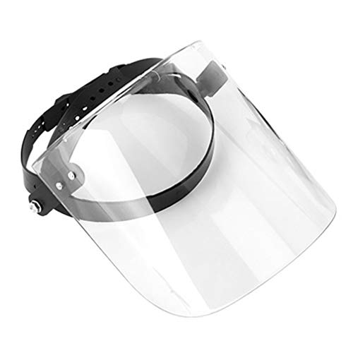 TENDYCOCO Visiera di Sicurezza Visiera a Pieno Facciale Protezione Visiera Anti-Sputo Protezione Anti-Spruzzo Trasparente Protezione da Cucina per Cucina per Esterno (Trasparente)