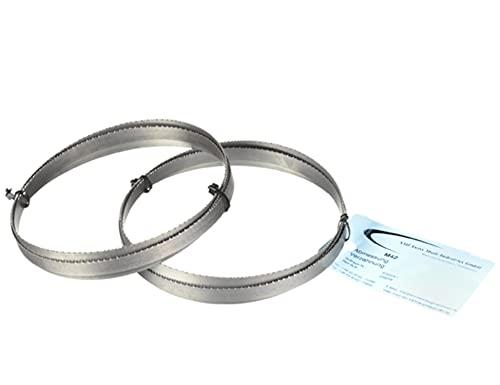 Juego de 2 cintas de sierra bimetálica M 42, dimensiones 1638 x 13 x 0,65 mm, 18 dientes por pulgada, para Optimum, Epple, Holzmann, hoja de sierra de cinta