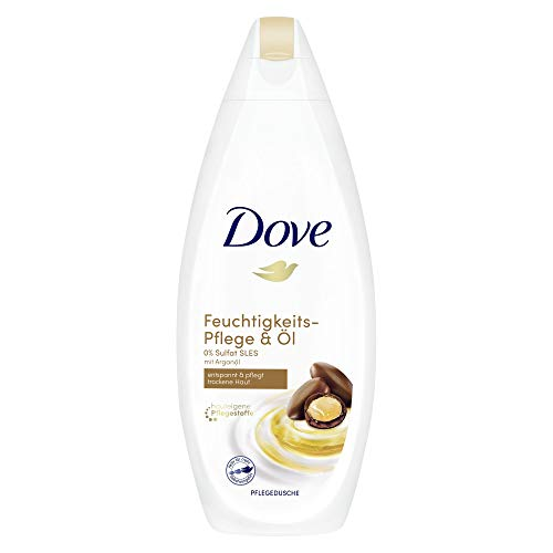 Dove Cremedusche für trockene Haut Pflege & Öl 0{640b0a1badf7df29631c65d13a106de0e1fe72dcd90ab3da2657d5e8b76d83e9} Sulfat(SLES), 6er Pack (6 x 250 ml)
