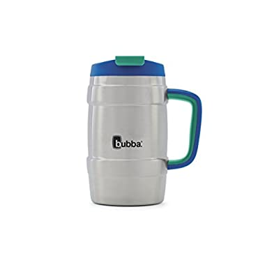Bubba Keg Vacuum-Insulated Stainless Steel Travel Mug, 34 oz, Very Berry Blue