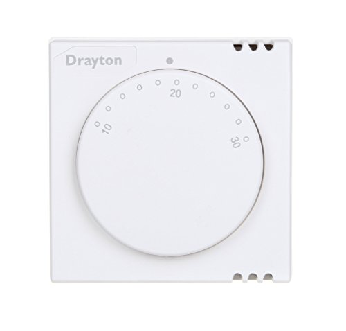 Drayton 24001 RTS1 Standard Room Thermostat, 230 V, White