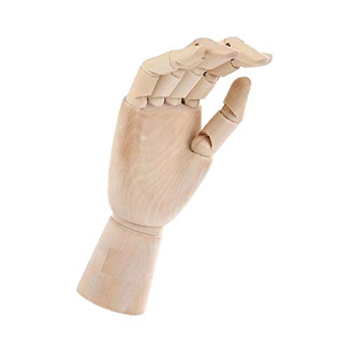xiaocheng La Mano Modelo de Madera con los Dedos Flexible articulado de la Mano Derecha para Dibujar Dibujo Pintura Ilustraciones Inicio del Escritorio de Oficina decoración del hogar Accesorios Vida