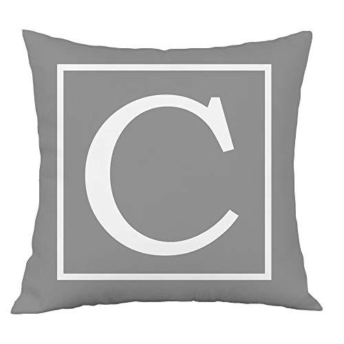 Hangood Alphabet Letter C Cushio...